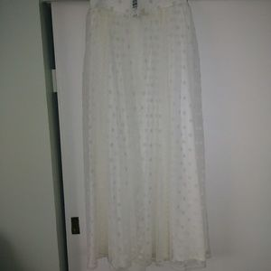Torrid Ivory Lace Maxi Skirt